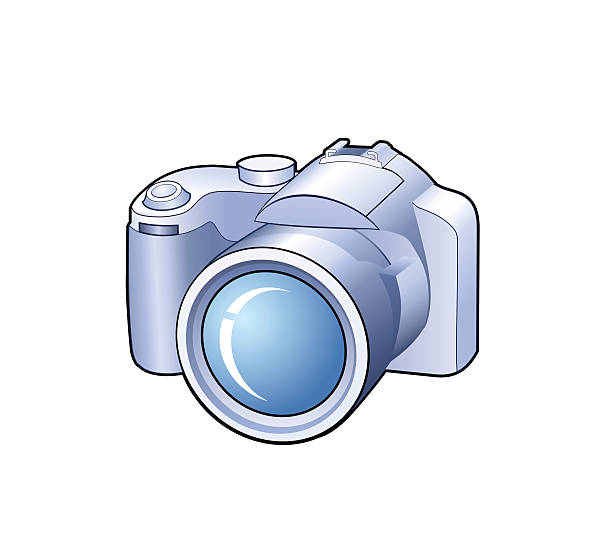 Camera detailed vector icon vector art illustration