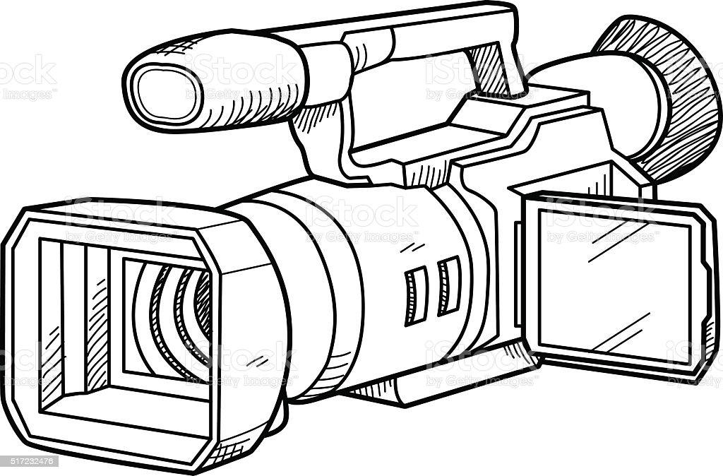 Tv Caméra Doodle Vecteurs libres de droits et plus d ...