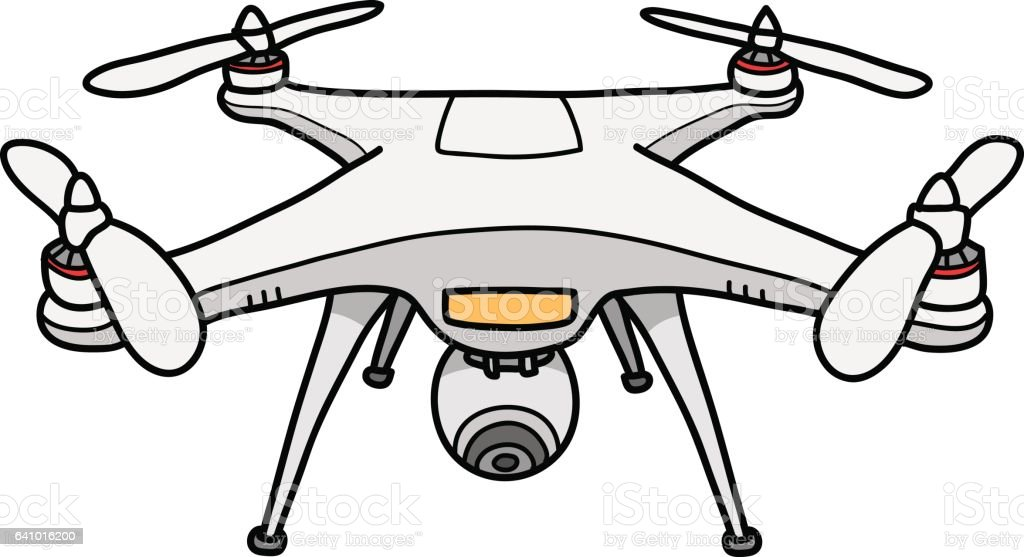 Camera Drone Vector Illustration Stock Vector Art More Images Of