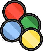 Camera filters vector illustration.