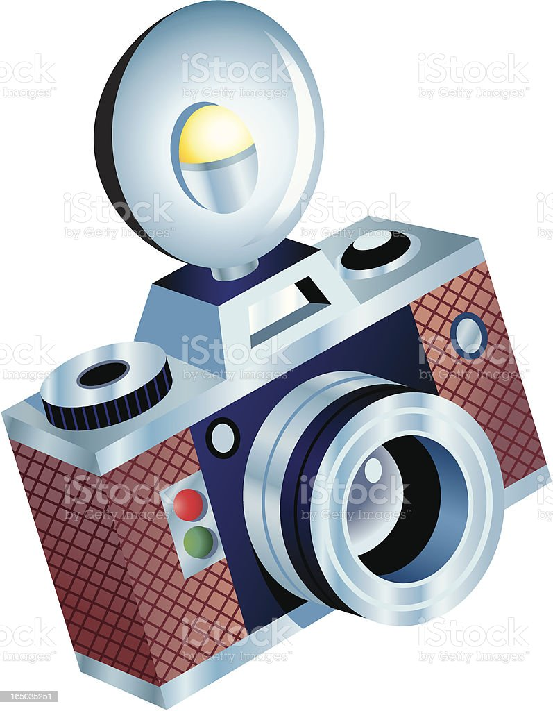 Camera + Flash royalty-free camera flash stock vector art & more images of antique