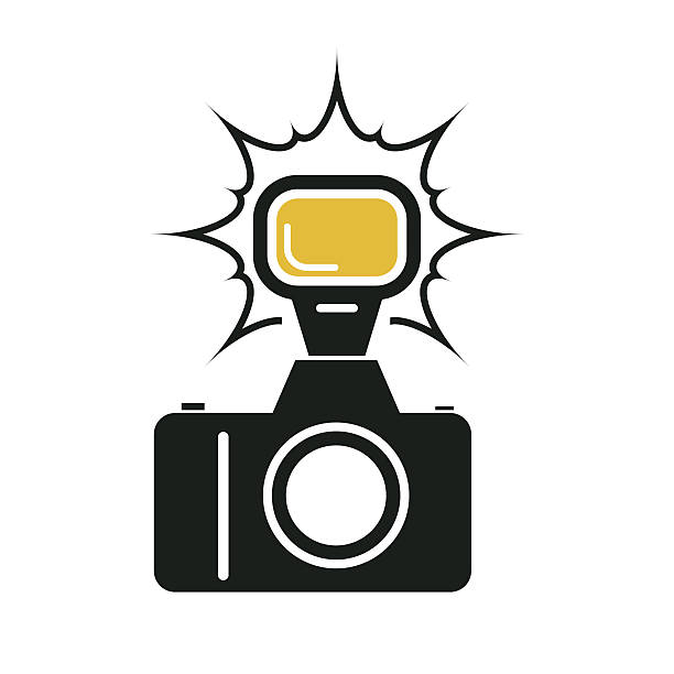 camera flash - 카메라 플래시 stock illustrations