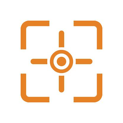 Camera focus point icon logo