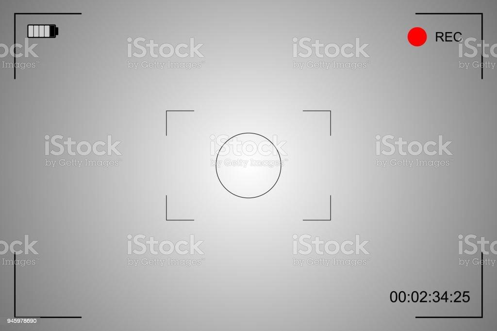 camera focusing screen vector art illustration