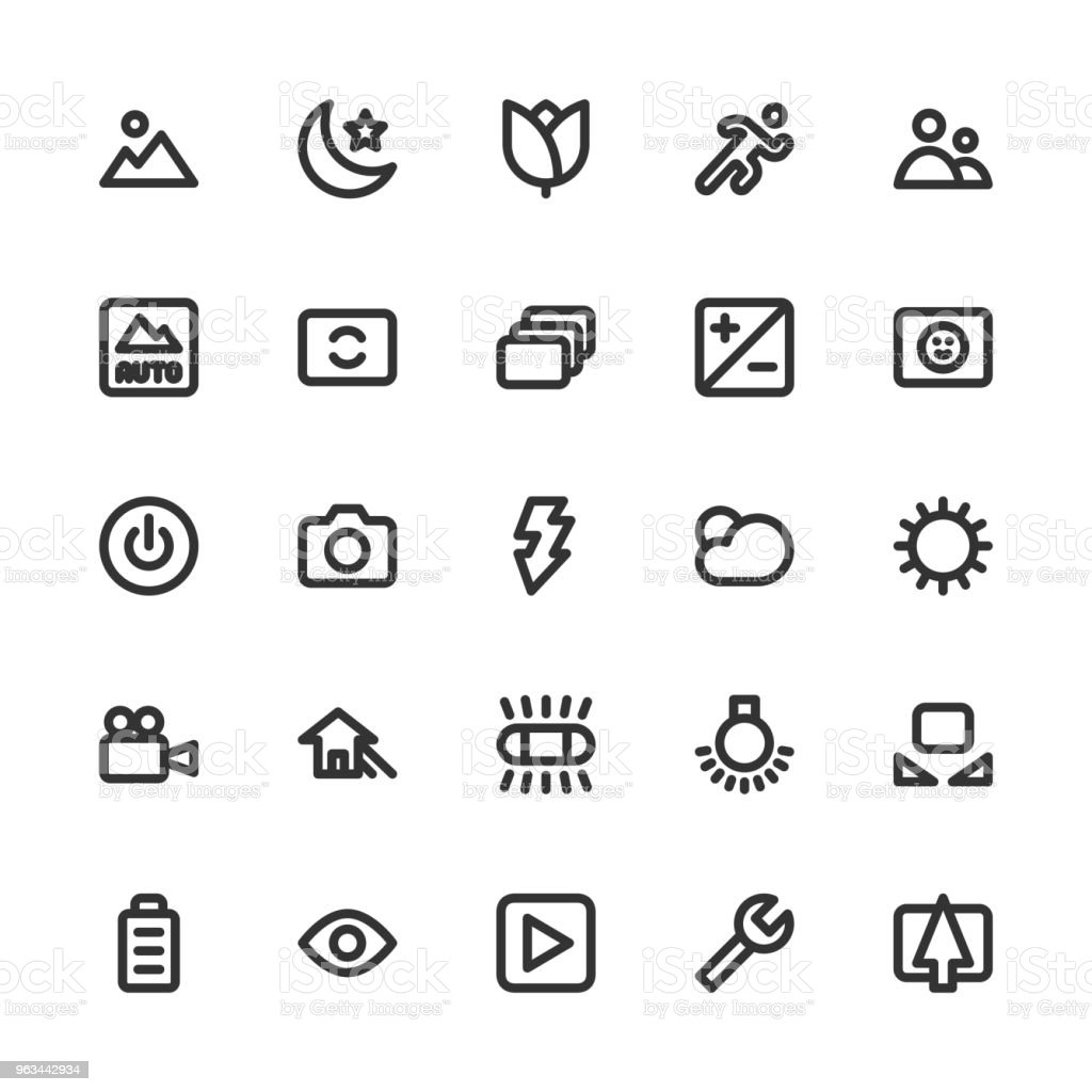 """Caméra fonction Icon Set 1 - série """"BOLD"""" en ligne - clipart vectoriel de Appareil photo libre de droits"""