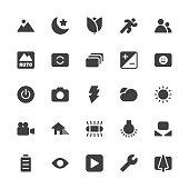 Camera Function Icon Set 1 - Gray Series