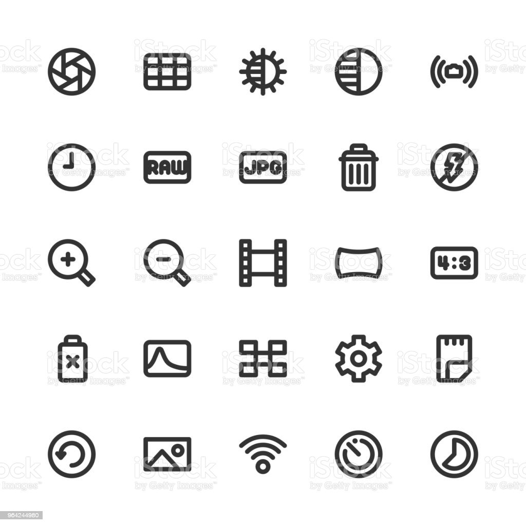 Camera Function Icon Set 2 Bold Line Series Stock