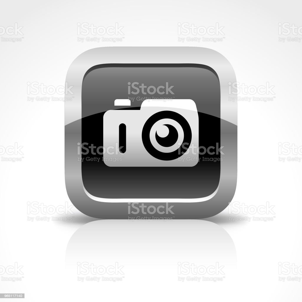 Camera Glossy Button Icon royalty-free camera glossy button icon stock vector art & more images of aperture