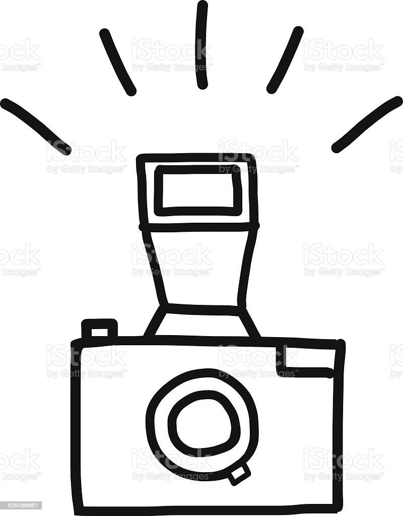 Populares Câmera Desenho à Mão - Arte vetorial de acervo e mais imagens de  KJ71