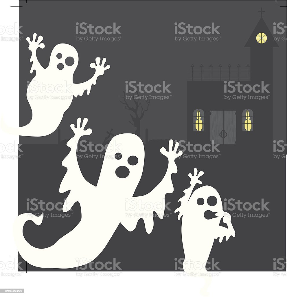 Camera Hogging Ghosts royalty-free stock vector art
