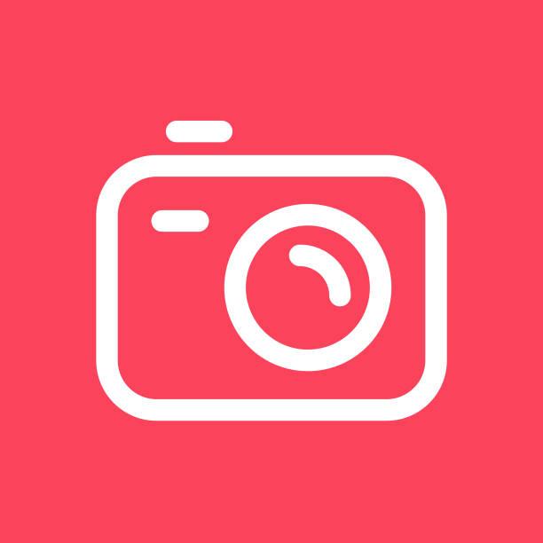 stockillustraties, clipart, cartoons en iconen met ontwerp van de camera-pictogram - gopro