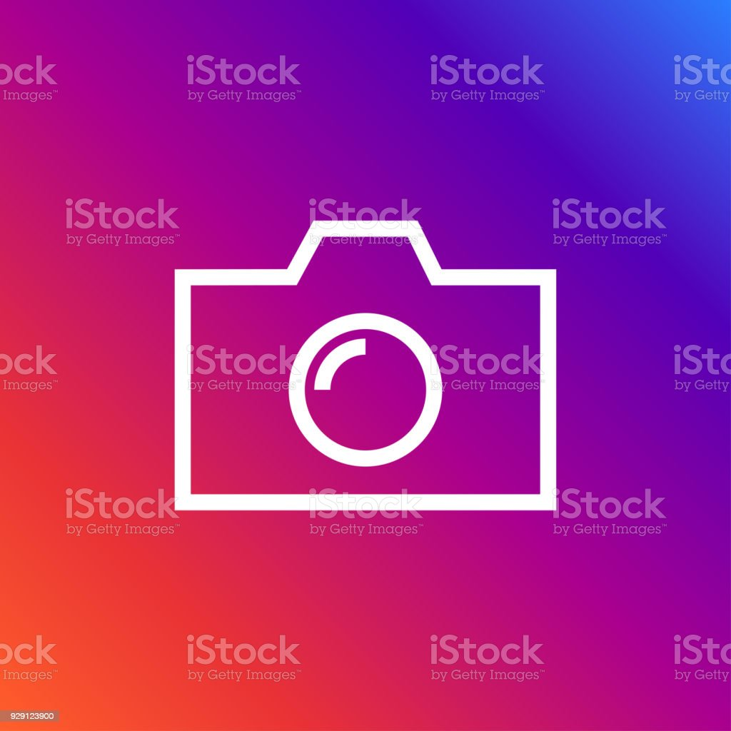 Camera Icon In Trendy Flat Style Isolated On Colorful Background