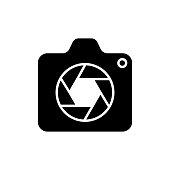 Camera Icon Logo Vector Illustration. Photo Camera icon design vector template. Trendy Camera icon flat design vector for website, symbol, logo, icon, sign, app, UI.