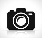 istock camera icon on white background 1001326948