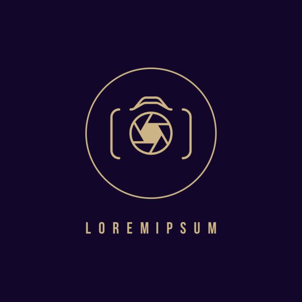 kamerasymbol, fotografie-logo - fotografische themen stock-grafiken, -clipart, -cartoons und -symbole
