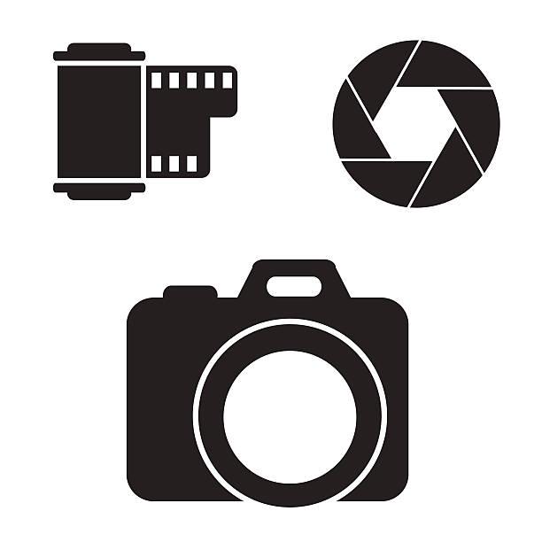 Ensemble d'icônes de caméra. - Illustration vectorielle
