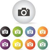 vector camera button icon set
