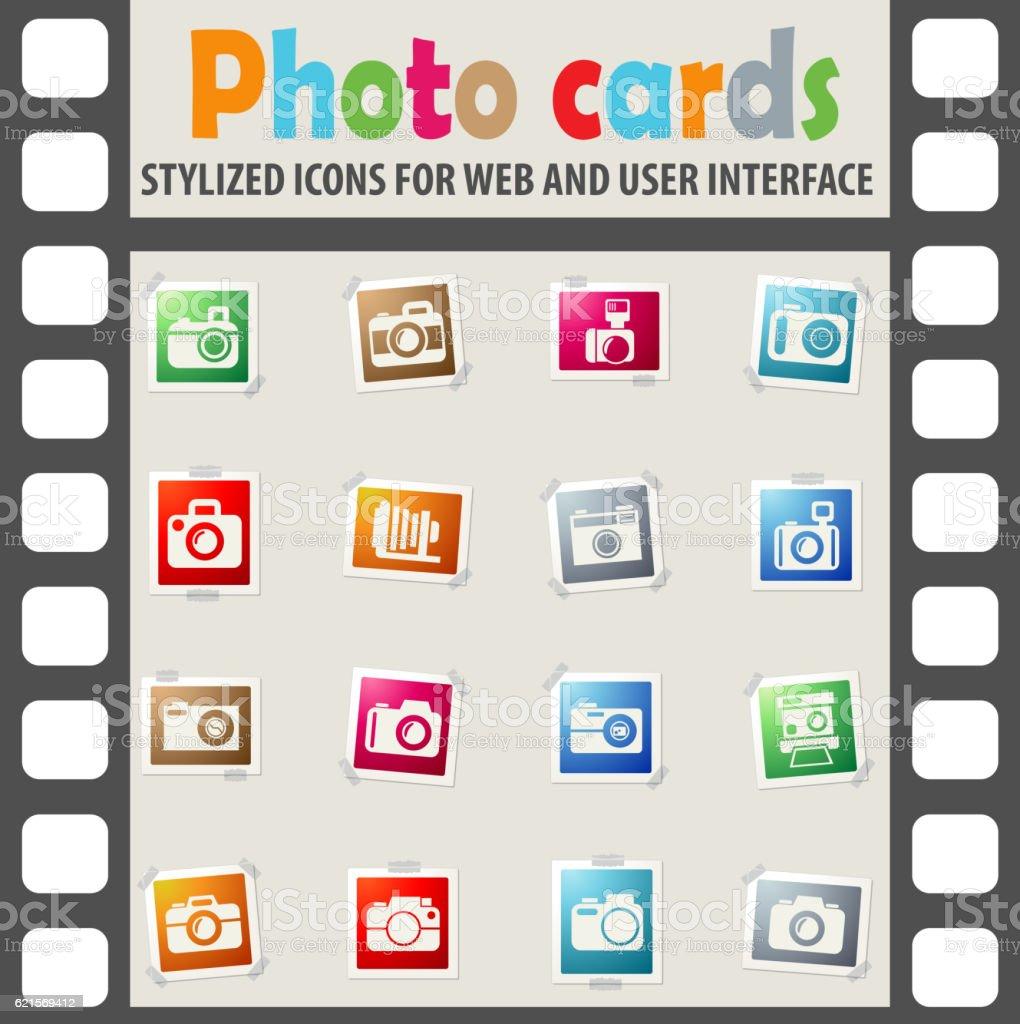 Kamera-icon-set Lizenzfreies kameraiconset stock vektor art und mehr bilder von bilderrahmen