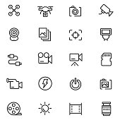 Camera icon set , vector illustration