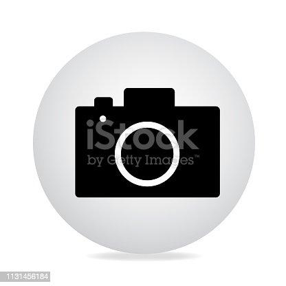 Camera icon silhouette