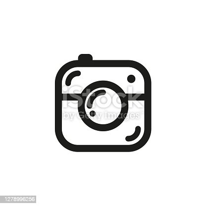 istock Camera icon simple style Isolated vector illustration on white background. 1278996256