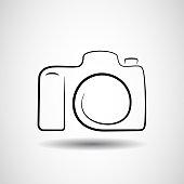 Camera icon design silhouette in vector format