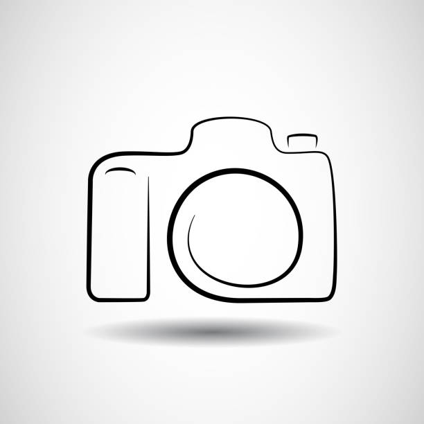 Camera icon vector design Camera icon design silhouette in vector format camera photographic equipment stock illustrations