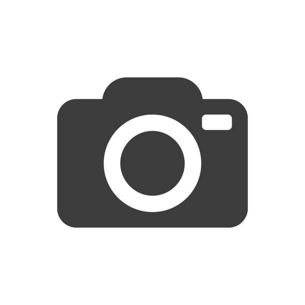 stockillustraties, clipart, cartoons en iconen met camera pictogram - camera