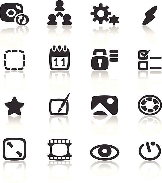 камеры icon - cut video transition stock illustrations