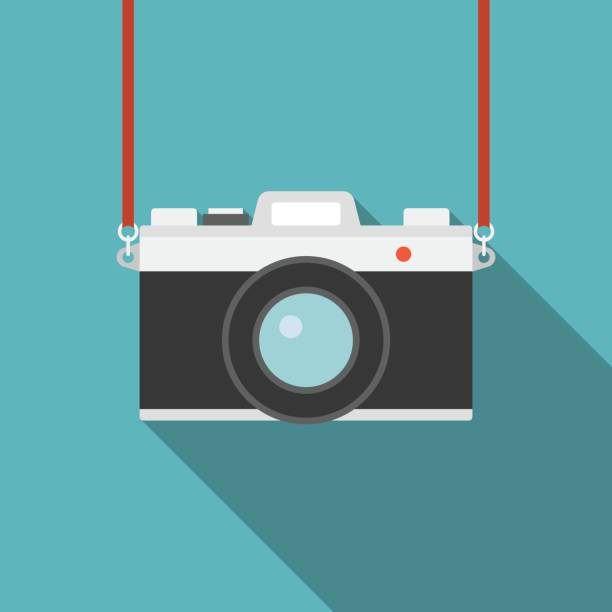 Camera icon – artystyczna grafika wektorowa