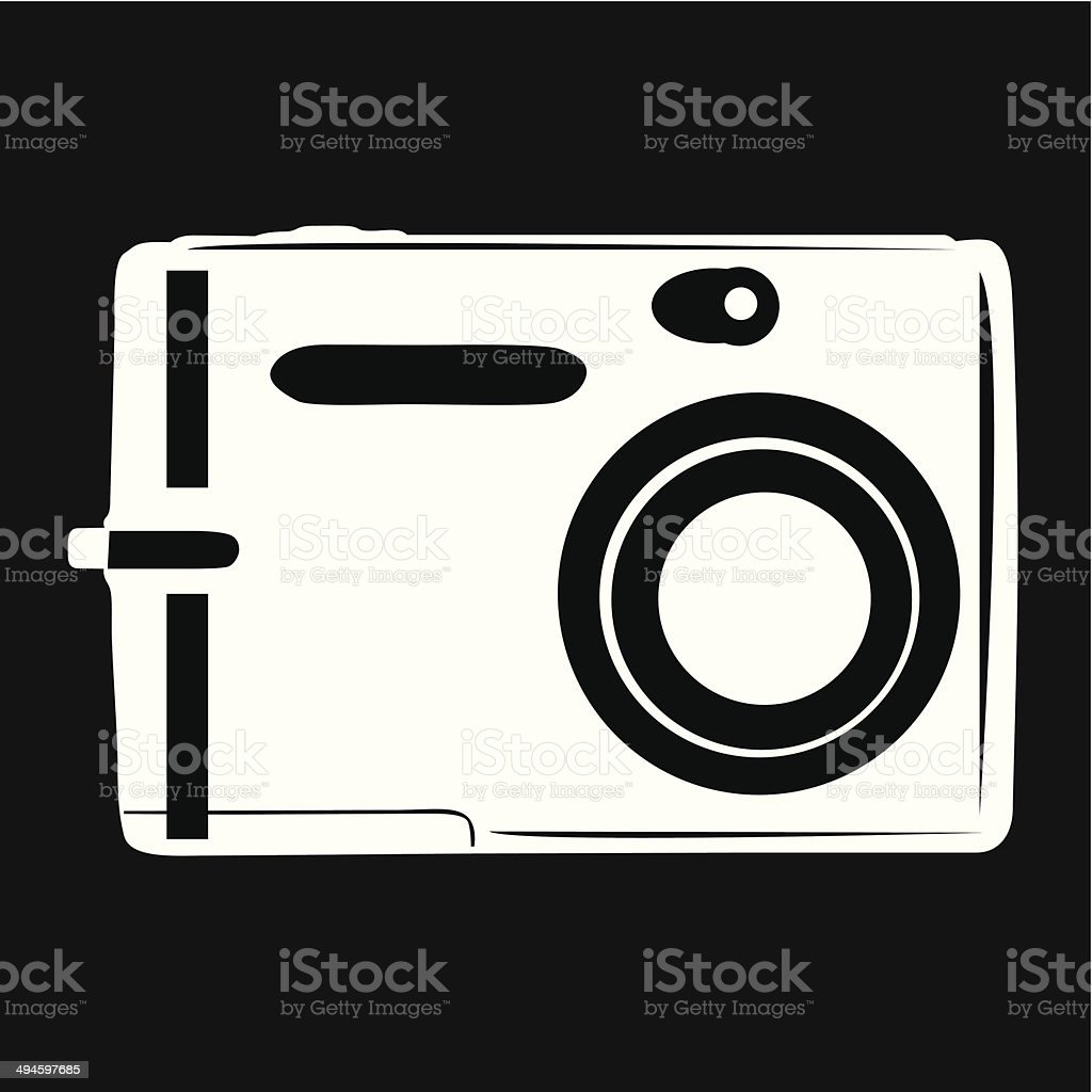 Camera Icon- Vector vector art illustration