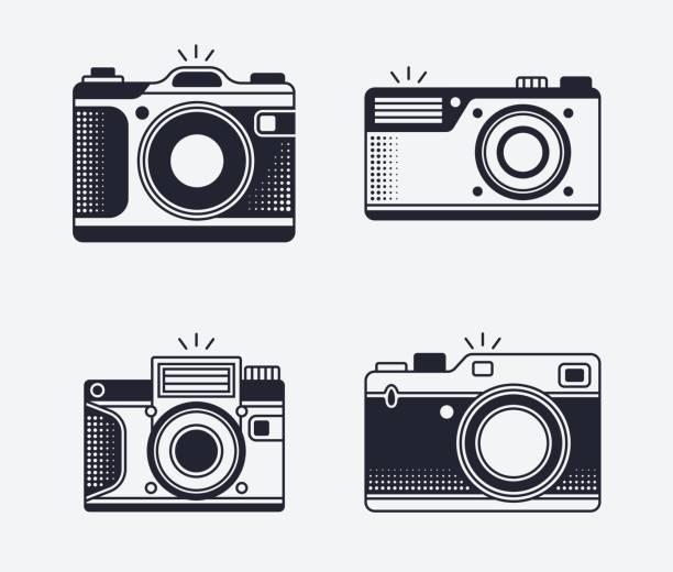 Symboles et des icônes de l'appareil photo - Illustration vectorielle