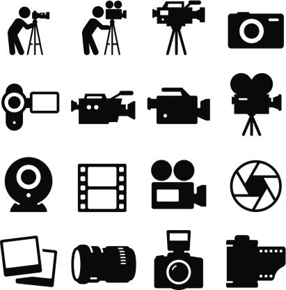 Camera Icons - Black Series