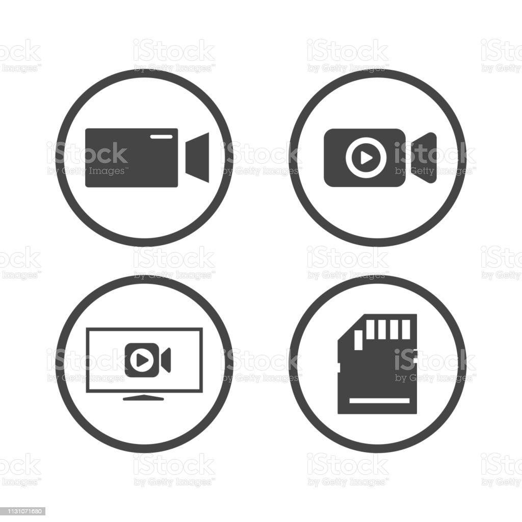 camera icons set. video icon. Vector illustration