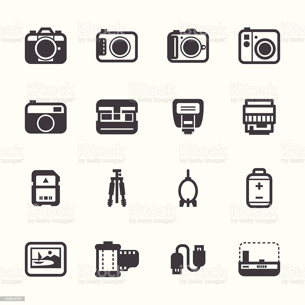Camera Icons royalty-free camera icons stock vector art & more images of backgrounds