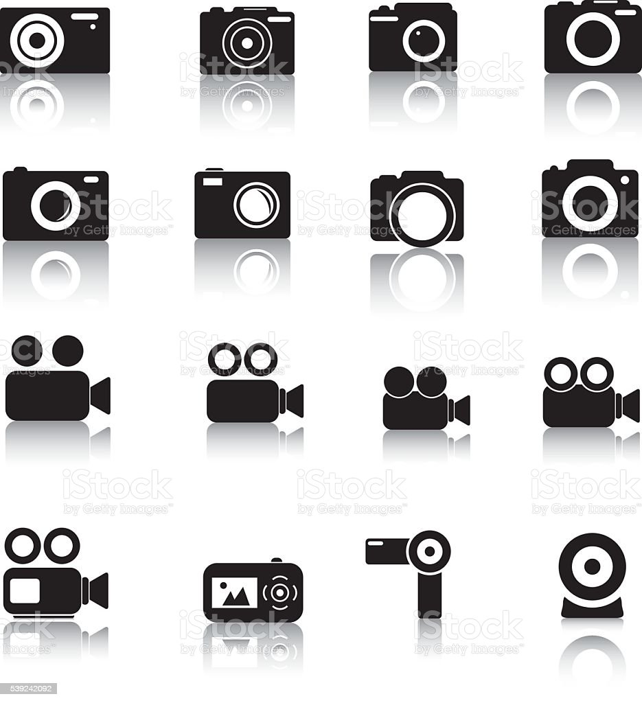 Camera Icons royalty-free camera icons stock vector art & more images of arts culture and entertainment