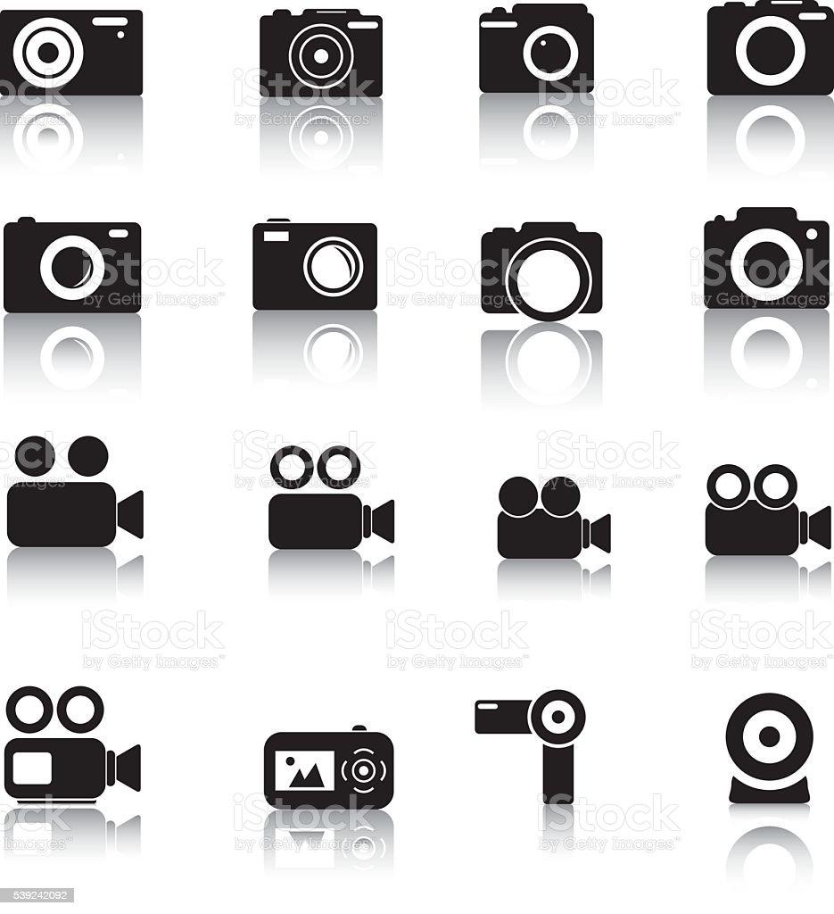 Iconos de cámara ilustración de iconos de cámara y más banco de imágenes de arte cultura y espectáculos libre de derechos