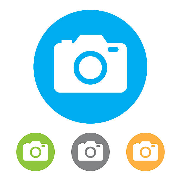 Camera Icons. Vector Camera icons. Eps10 vector illustration with layers (removeable). Pdf and high resolution jpeg file included (300dpi). camera photographic equipment stock illustrations