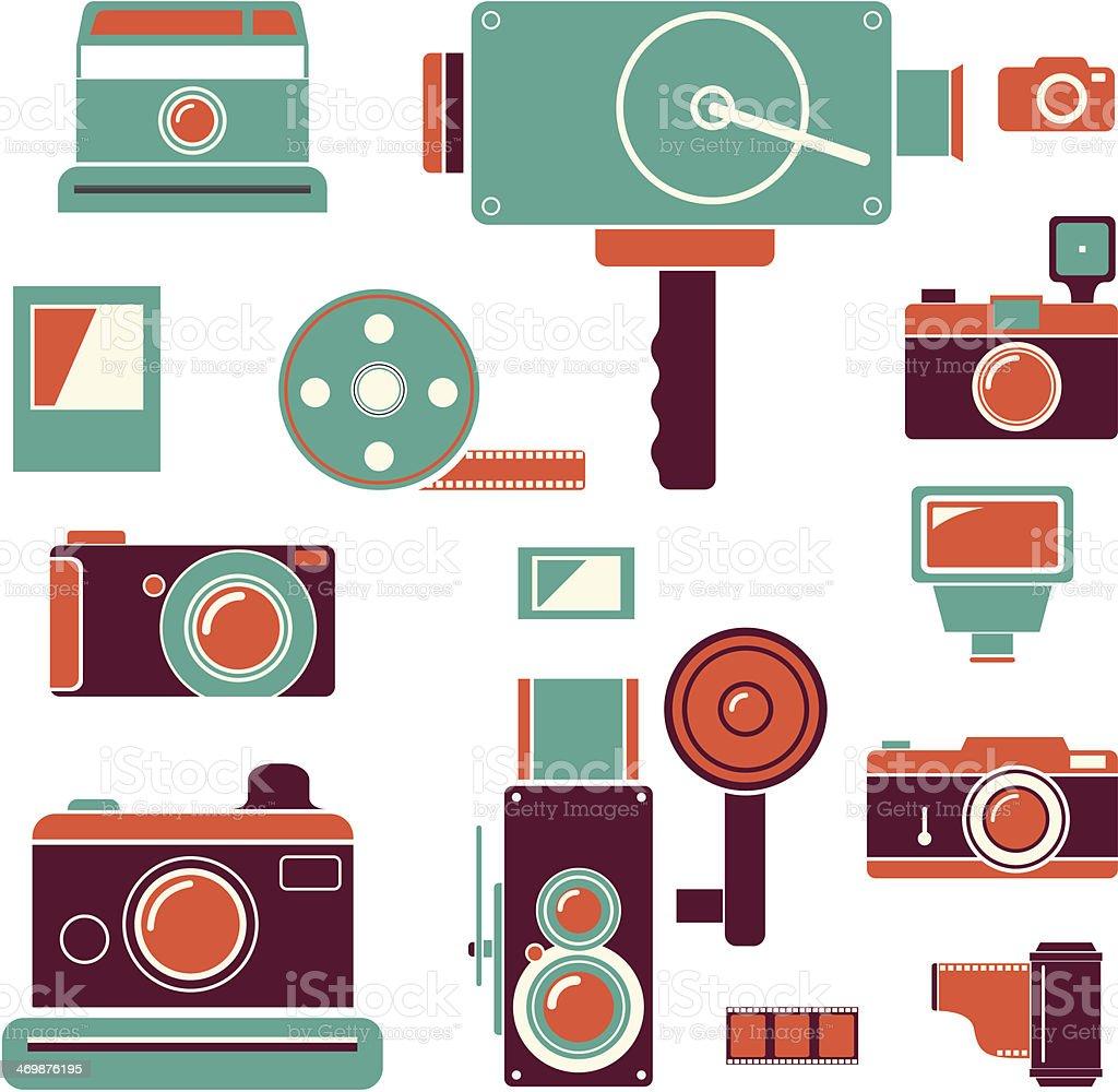 Kamerasymbol Mit Retrofarben Stock Vektor Art Und Mehr Bilder Von