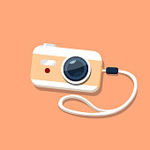 Camera in a flat style