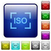 Camera iso speed setting color square buttons
