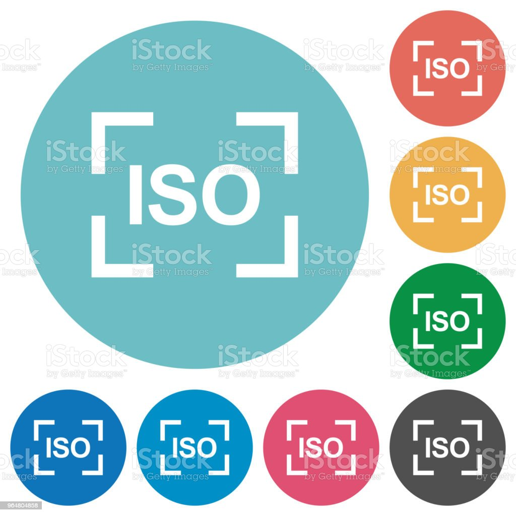 Camera iso speed setting flat round icons royalty-free camera iso speed setting flat round icons stock illustration - download image now
