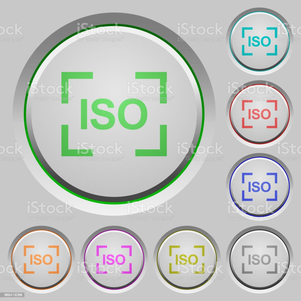 Camera iso speed setting push buttons royalty-free camera iso speed setting push buttons stock vector art & more images of art