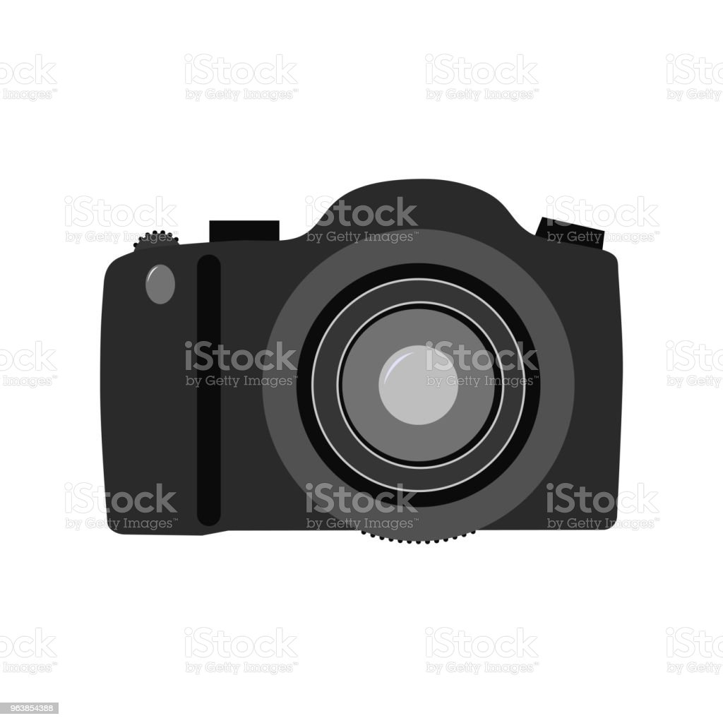 Camera isolated on white background. Vector illustration. - Royalty-free Camera - Photographic Equipment stock vector