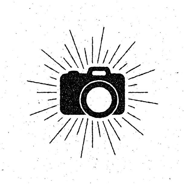 카메라 레이블입니다 - 카메라 플래시 stock illustrations