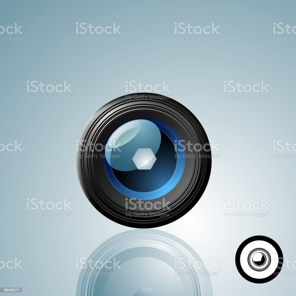 Camera Lens Button royalty-free stock vector art