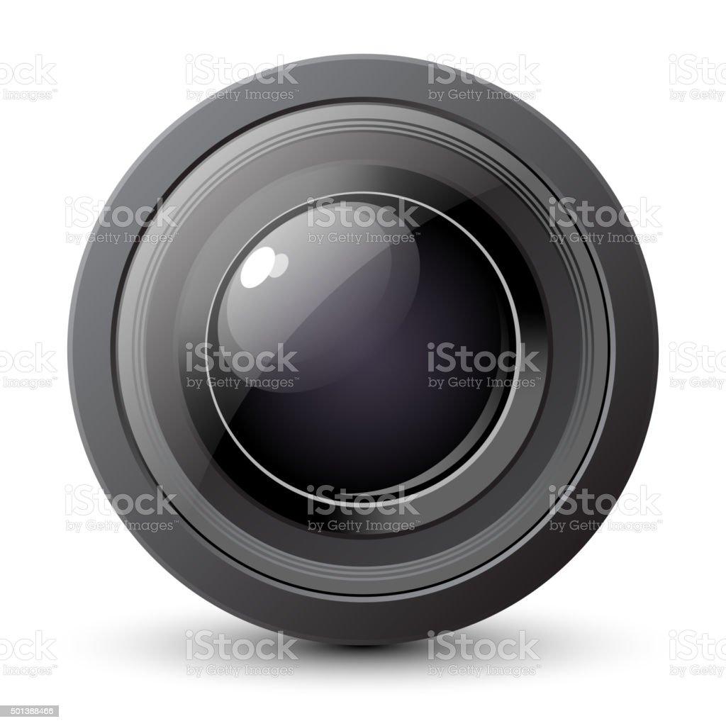 Camera Lens Icon vector art illustration