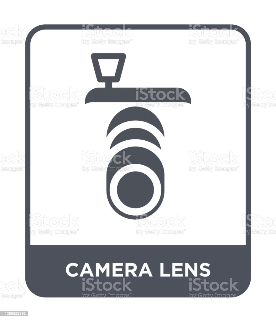 camera lens icon vector on white background, camera lens trendy...