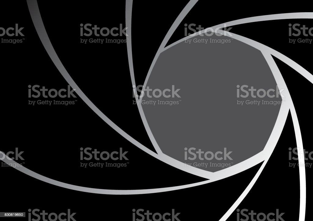 Camera lens Iris Diaphragm background vector art illustration
