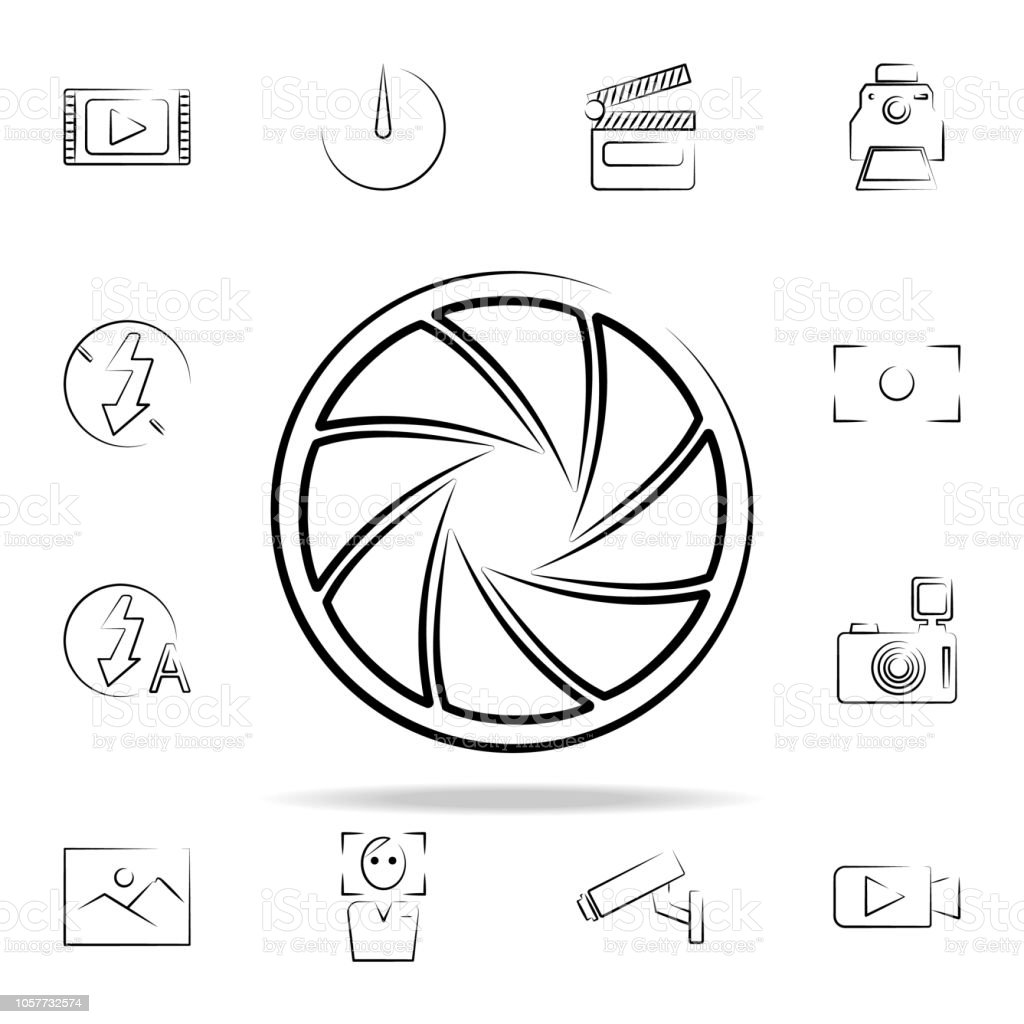Camera Lens Outine Icon Photo And Camera Icons Universal Set